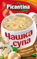Инстантна гъбена крем-супа с крутони