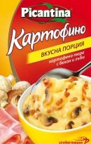 Картофено пюре с бекон и гъби