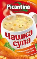 Инстантна пилешка крем-супа с крутони