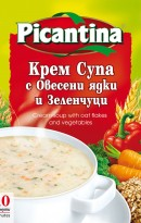 Cream soup with oat flakes and vegetables